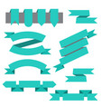 set of ribbonsbookmarks in flat style vector image vector image
