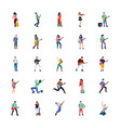 singer and musician flat characters pack vector image