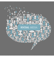 social speech bubbles vector image vector image