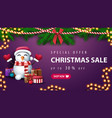 special offer christmas sale up to 30 off purple vector image vector image