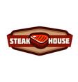 steak house logo isolated on white vector image
