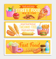 street food banners vector image