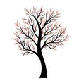 Stylized tree with colorful leaves vector image vector image