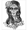 sugar skull woman vector image vector image