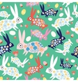texture colorful bunnies vector image vector image