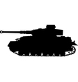 tiger german silhouette tank of world war 2 vector image vector image
