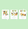 time family quarantine classes onboarding mobile vector image vector image