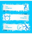 Time management set banners sketch vector image vector image