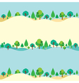 Trees On Hills Natural Background vector image