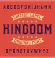 vintage label typeface vector image vector image