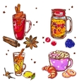 Warm Drinks Icon Set vector image vector image