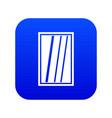 white rectangle window icon digital blue vector image vector image