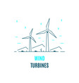 wind energy logo template flat style icon design vector image vector image