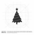 x-mas tree icon vector image