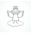 Angel wings on a cloud vector image