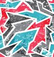 graffiti mosaic seamless pattern with grunge vector image