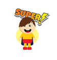 Flat style superhero character avatar on ribbon vector image