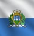 San Marino flag vector image