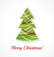 Abstract Christmas tree on white background vector image vector image