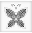 abstract highly detailed nonochrome butterfly vector image vector image