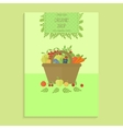 Advertising poster templates organic food vector image vector image