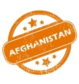 Afghanistan grunge icon vector image vector image