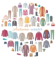 Autumn-Winter Clothes Collection vector image