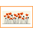 Background painting with red poppies vector image vector image