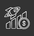 business growth chalk icon vector image