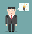 Businessman with creative idea vector image