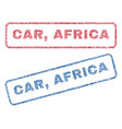 car africa textile stamps vector image vector image
