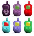 cartoon set of mobile phones vector image