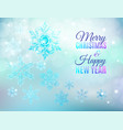 christmas ice snowflake background vector image vector image