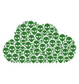 cloud composition of alien face icons vector image
