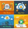 Cloud Service 2x2 Design Concept vector image
