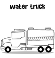 Collection of water truck transportation vector image vector image