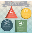 Colorful infographic hanging geometric shape vector image vector image
