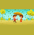 compassion at coronavirus pandemic kids in park vector image vector image