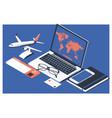 concept buying online ticket booking vector image vector image