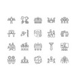 corporate business line icons signs set vector image vector image