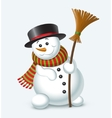 Cute Christmas snowman vector image vector image
