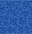 dark blue folk art floral pattern vector image vector image