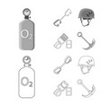 design of mountaineering and peak icon set vector image