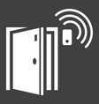door sensor solid icon security and alarm vector image vector image