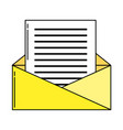 envelope open symbol vector image