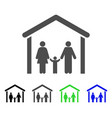 family cabin icon vector image vector image