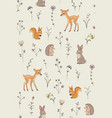 forest animals pattern vector image vector image