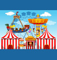 fun fair raide background vector image