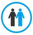Gay Pair Icon vector image vector image