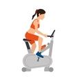 Girl spinning training gym